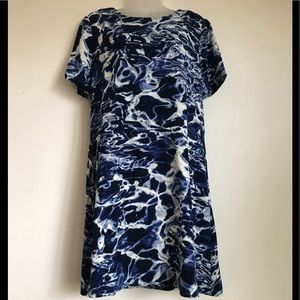 Michael Kors Marble Blue Fit and Flare Dress 10